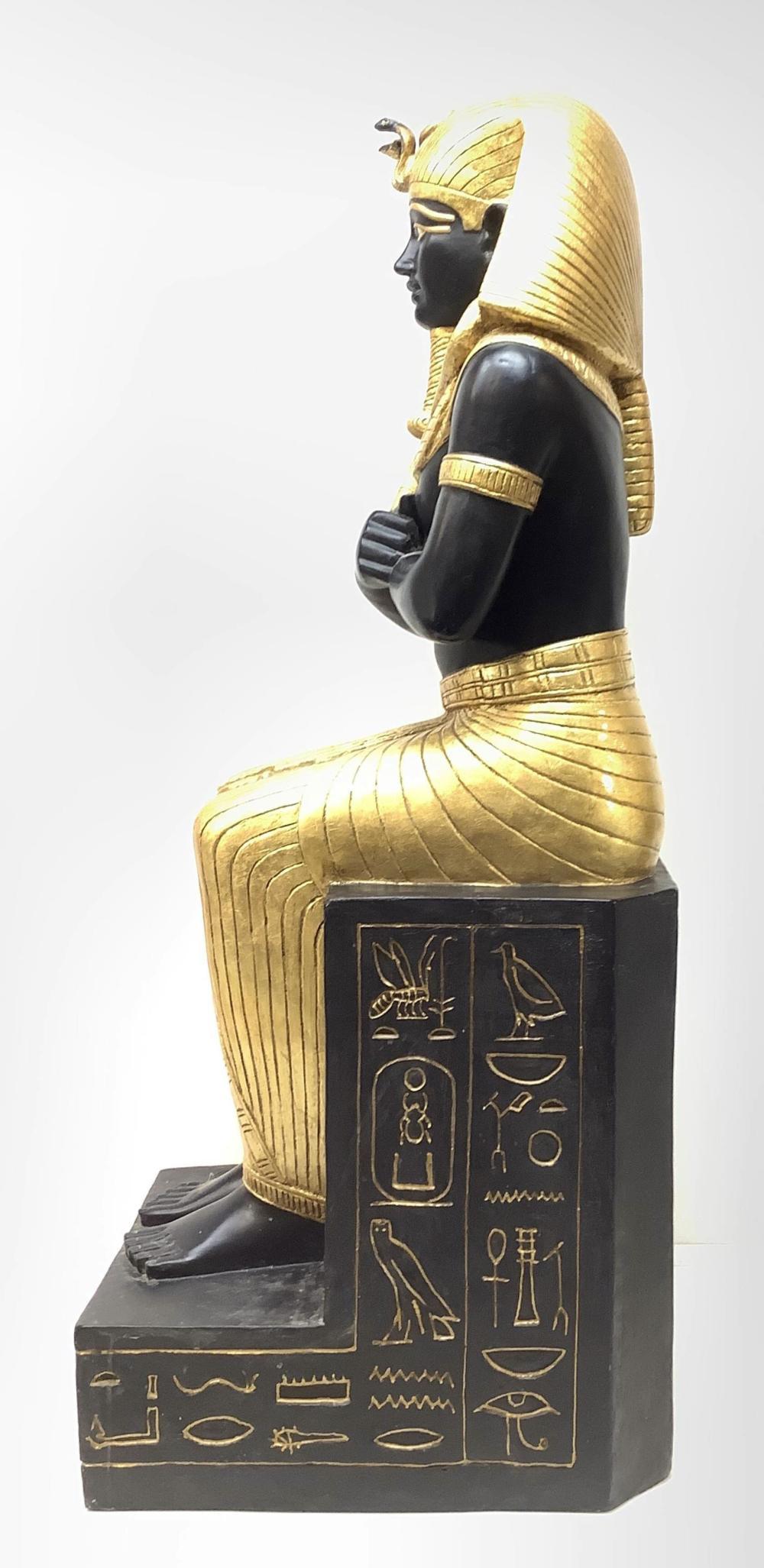 4ft King Tutankhamun Egyptian Resin Sculpture
