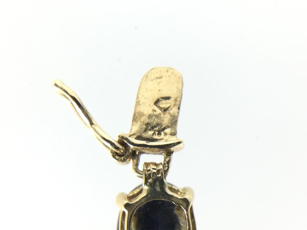 14K Gold & Blue Topaz Bracelet