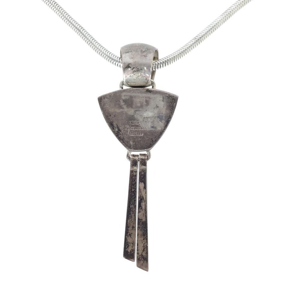 Kenneth Bitsie Navajo Sterling Silver Necklace