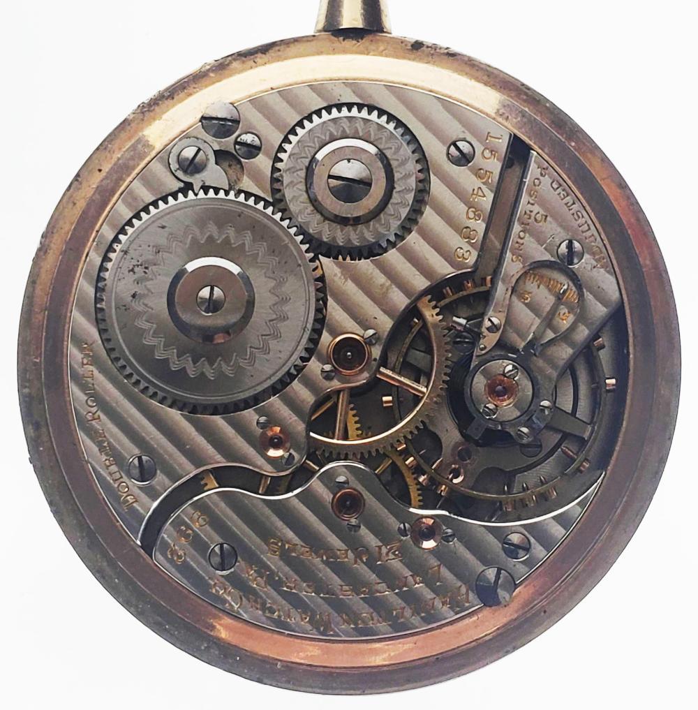 1918 Hamilton 992 21 Jewel Gold Fill Pocket Watch