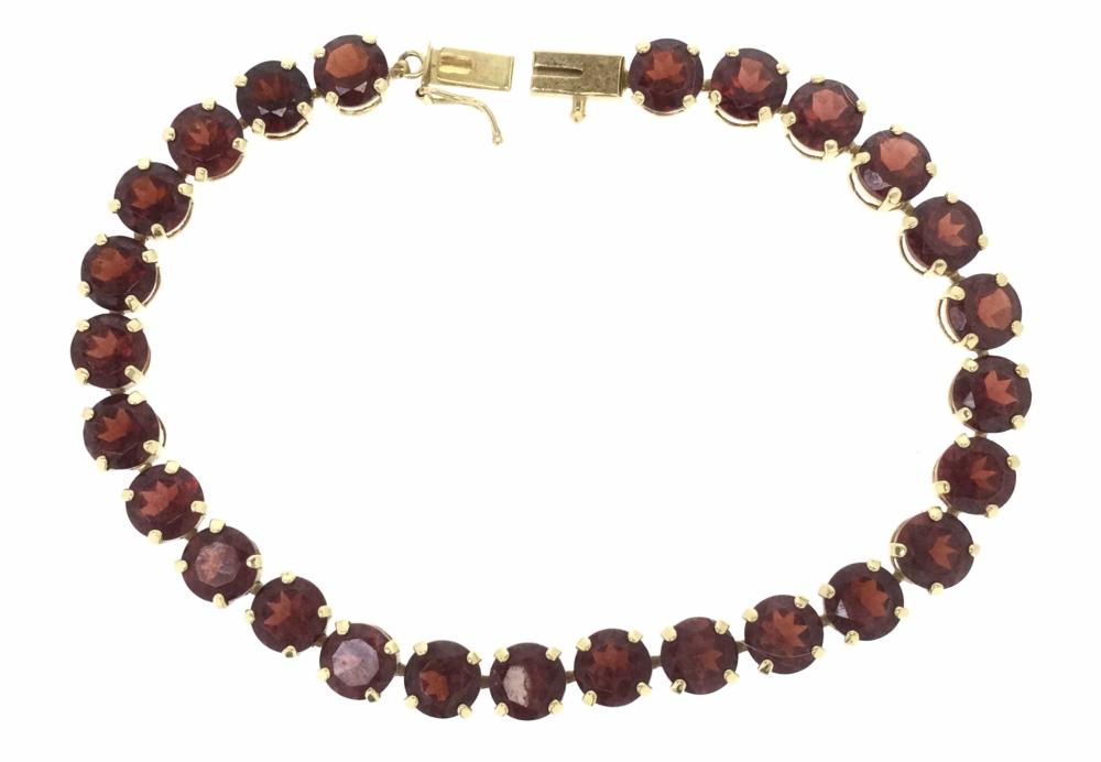 14K Gold & Garnet Bracelet