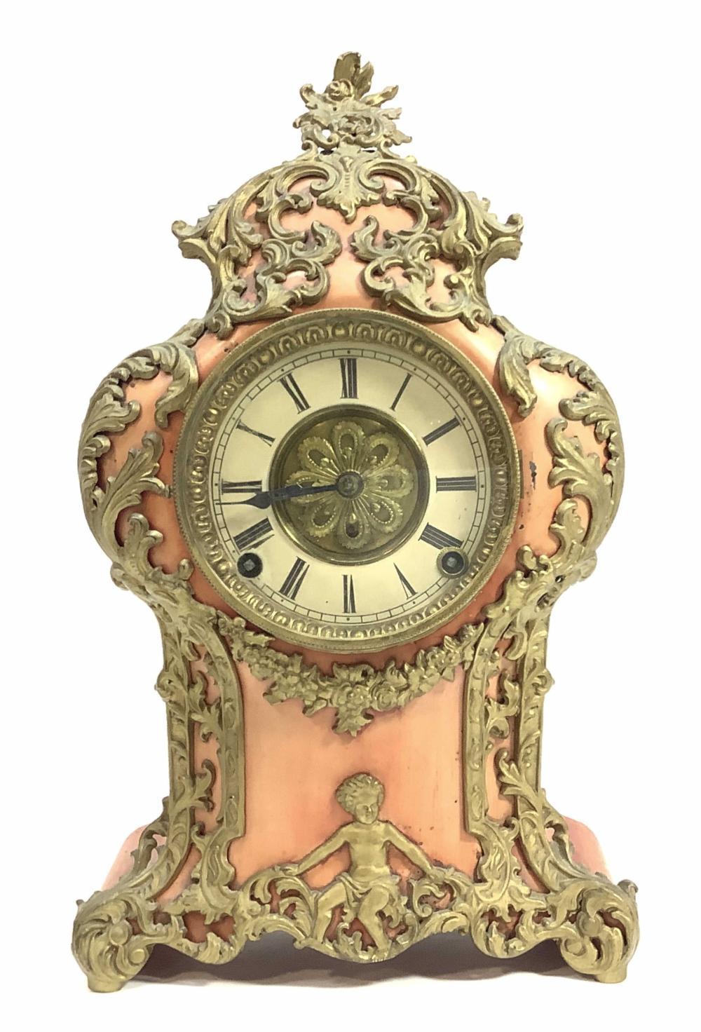 Pat.1894, E. Froeber French Rococo Style Clock