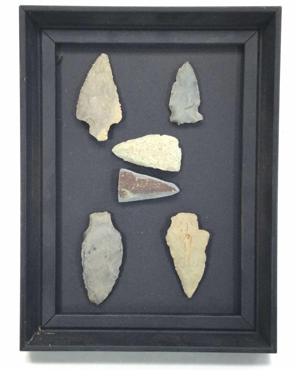 (40) Assorted Stone Flint Arrowheads