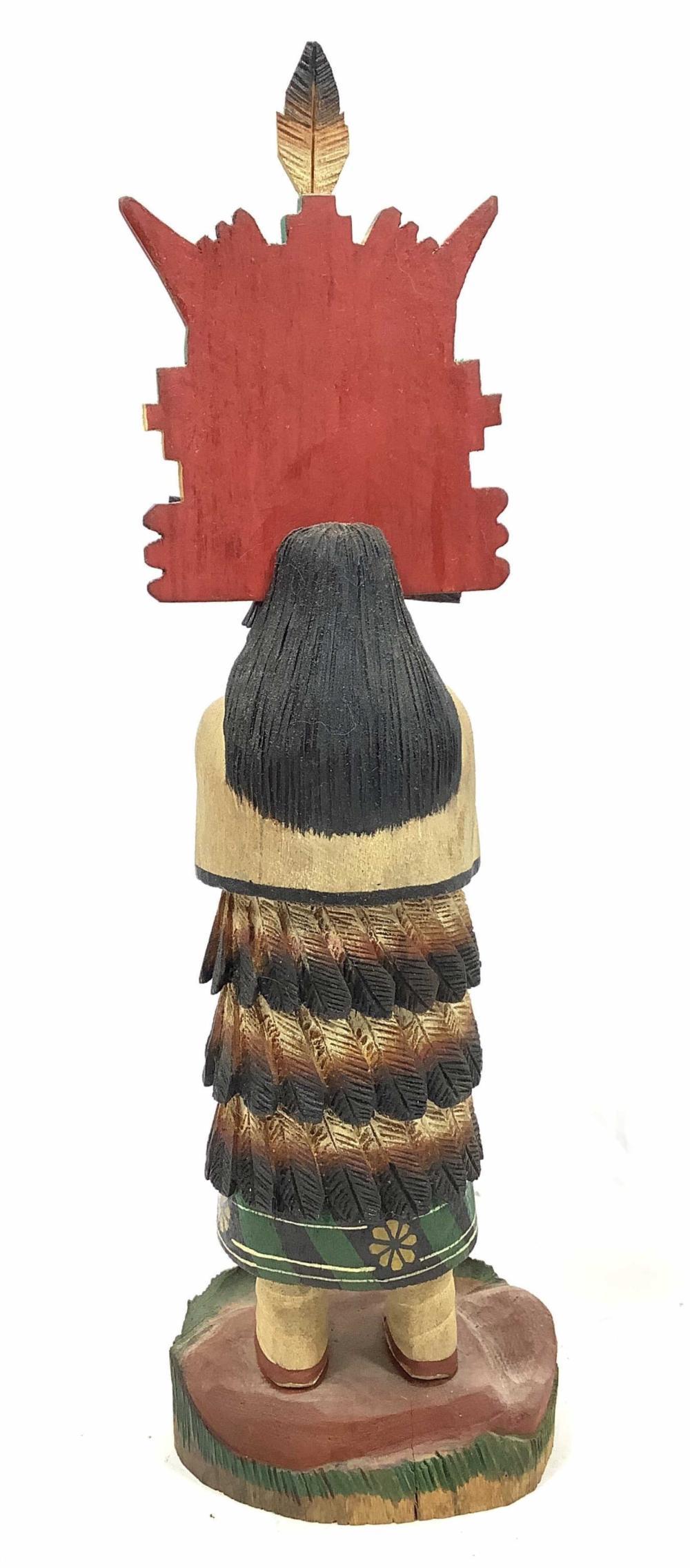 (2pc) Native American Carved Wood Kachina Dolls