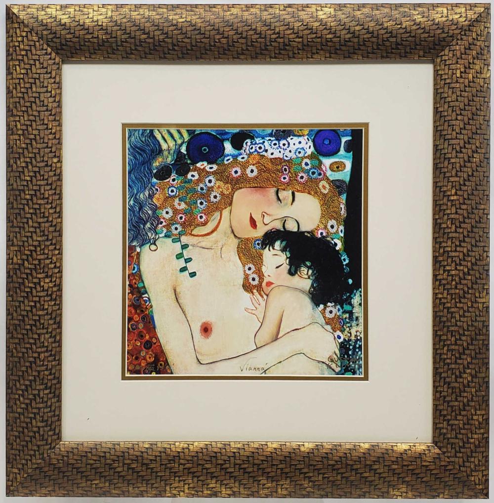 Gustav Klimt Lithograph Signed In Plate