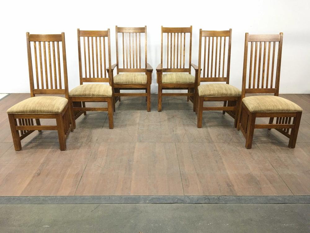 Sold Price 9pc Thomasville Furniture Mission Style Oak Dining Group December 6 0120 10 00 Am Mst