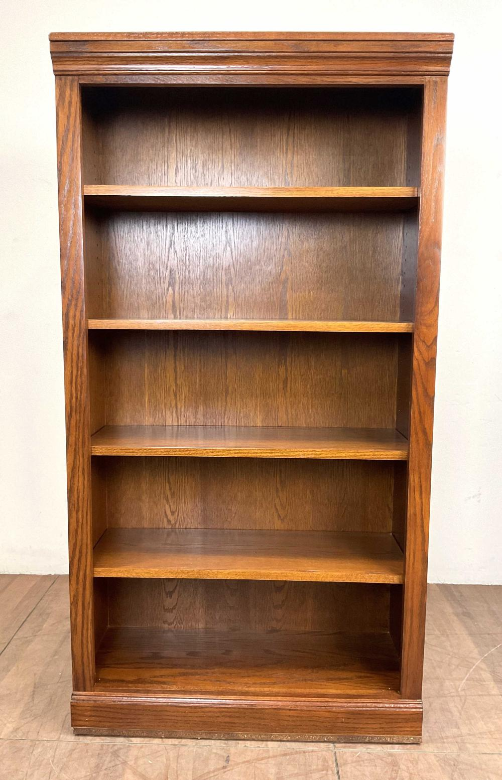 Pair Traditional Style Oakwood Bookcases