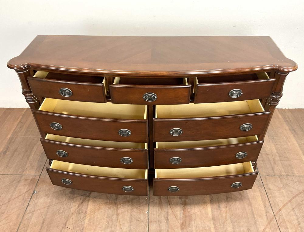 Traditional Style Cherrywood Triple Dresser