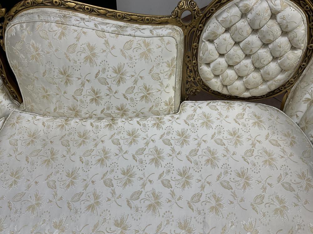 (3pc) United Furniture French Victorian Rococo Sofa