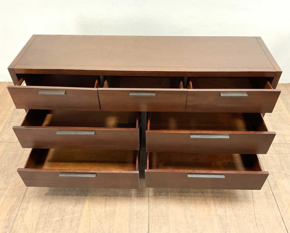 Casana Modern Cherry Finished Triple Dresser
