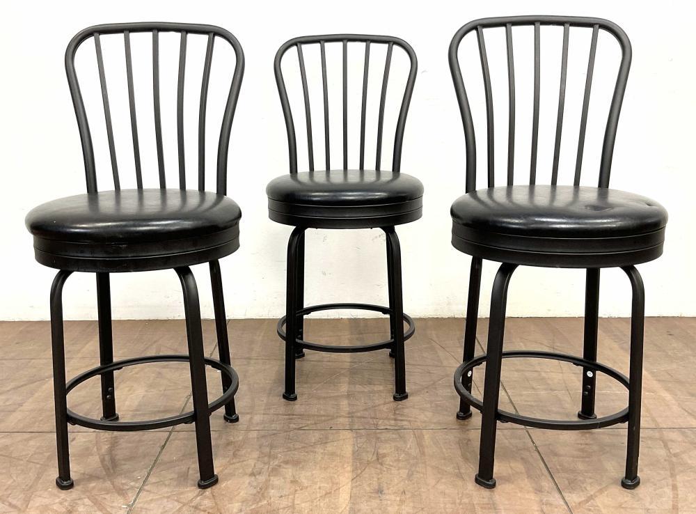 (3pc) Linon Home Contemporary Swivel Barstools