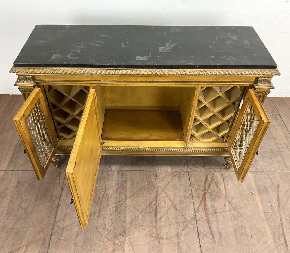 Italian Venetian Neoclassical Style Marble Top Wine Cabinet