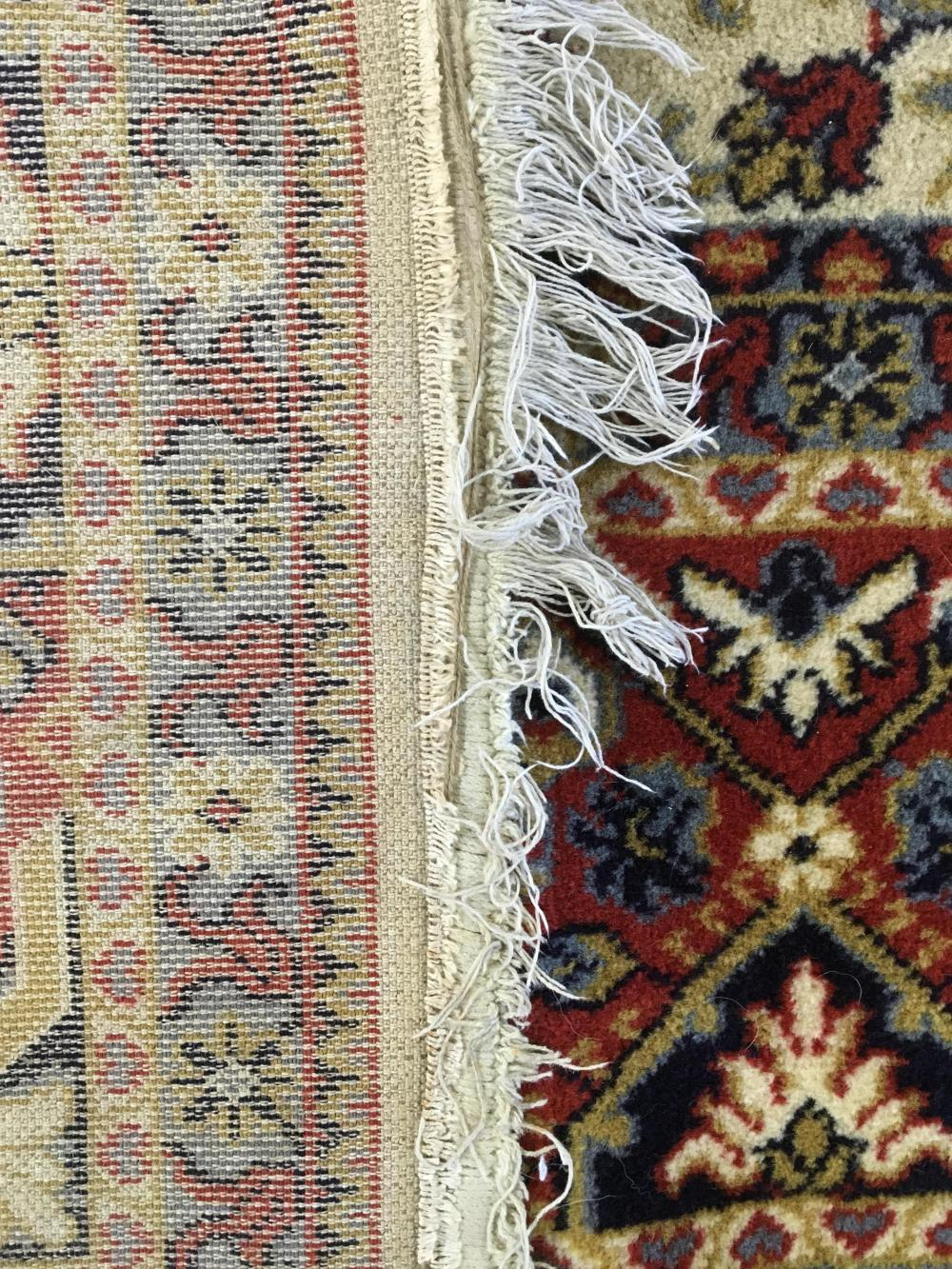 Hand Woven & Fringed Wool Rug