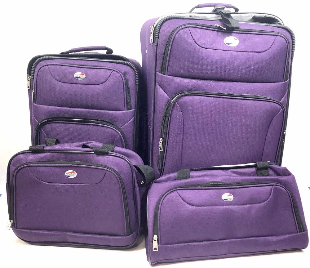 American Tourist 4 Piece Rolling Luggage Set