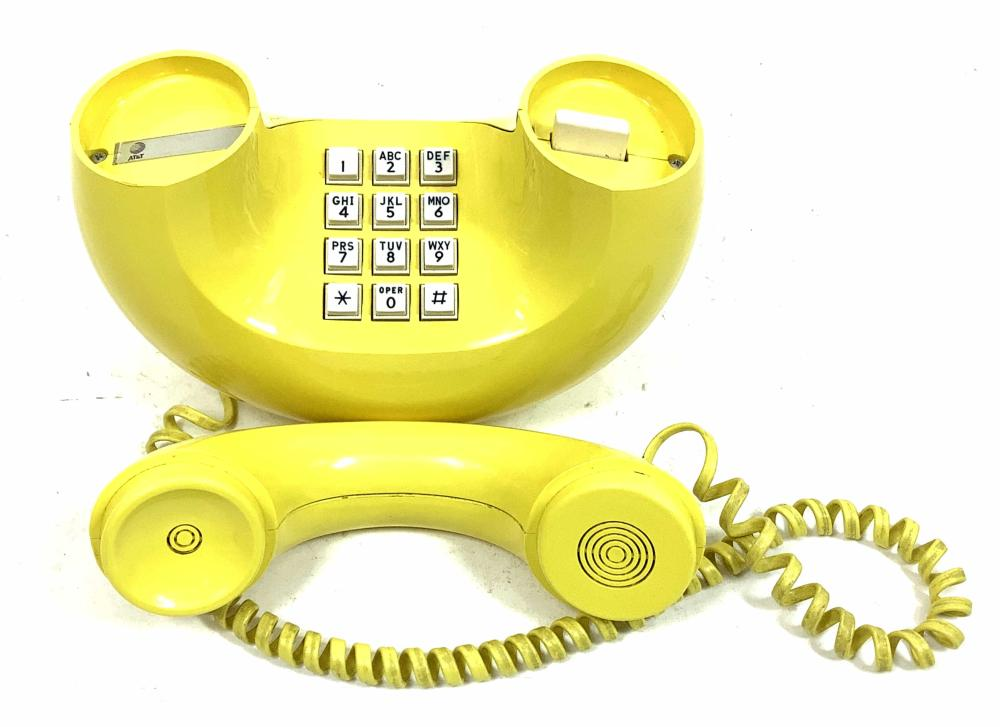 Yellow Western Electric Soulptura Touchtone Phone