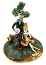 Lucien Neuquelman Paris Art Pottery Sculpture