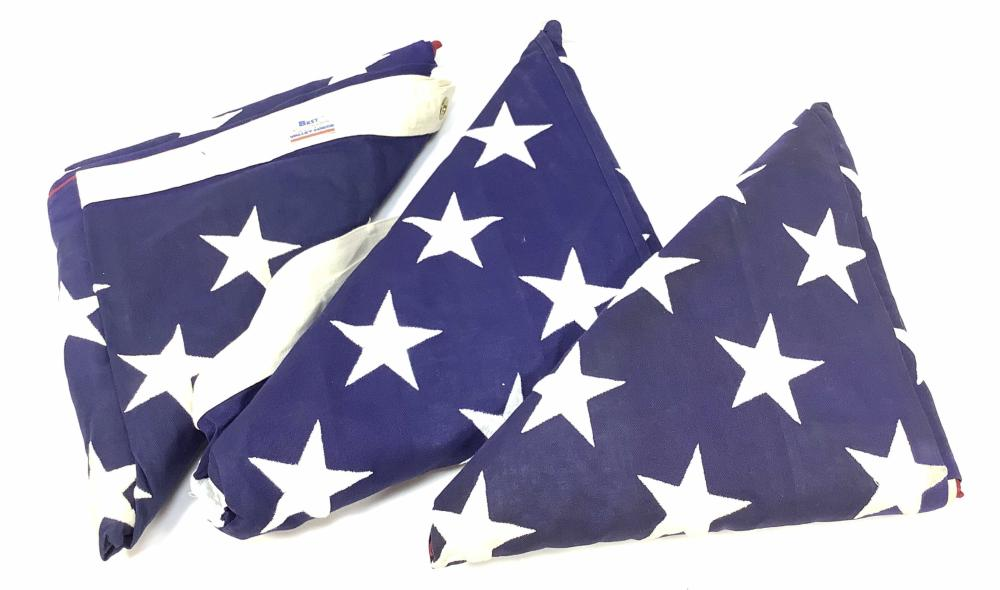 (3) United States Flags, Valley Forge, Flagsource