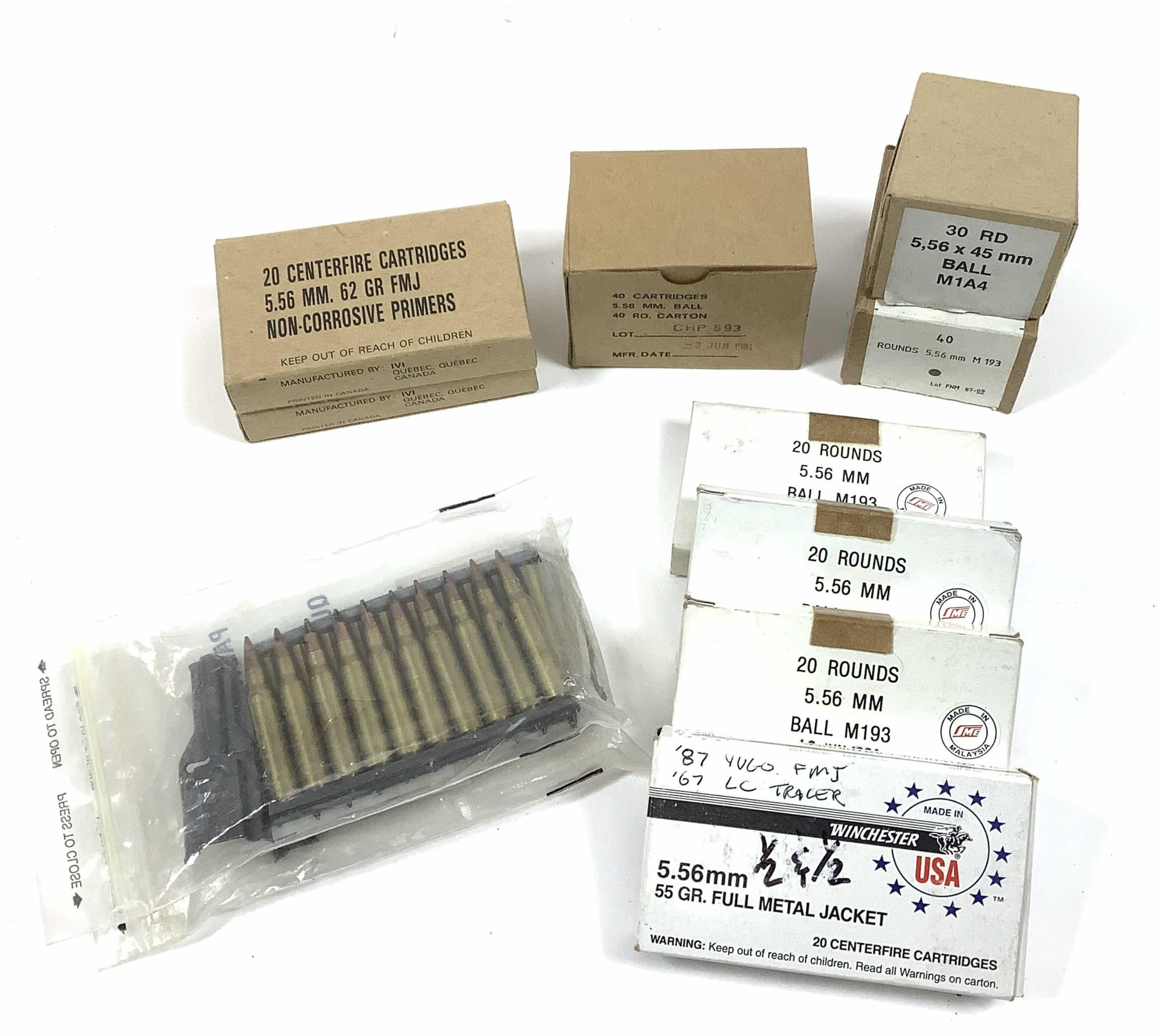 (270) Rds. 5.56 Ammunition, Ball M193