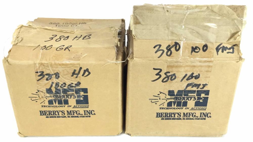 (1000+) .380 100 Grain FMJ Bullets
