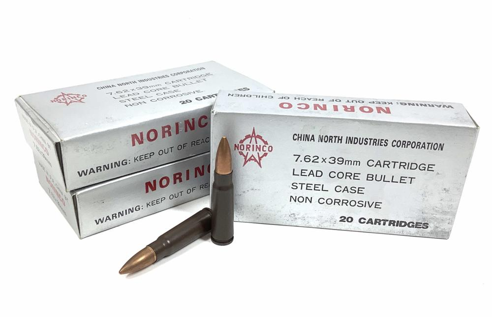 (480) Rds. Norinco 7.62 X 39mm Ammunition