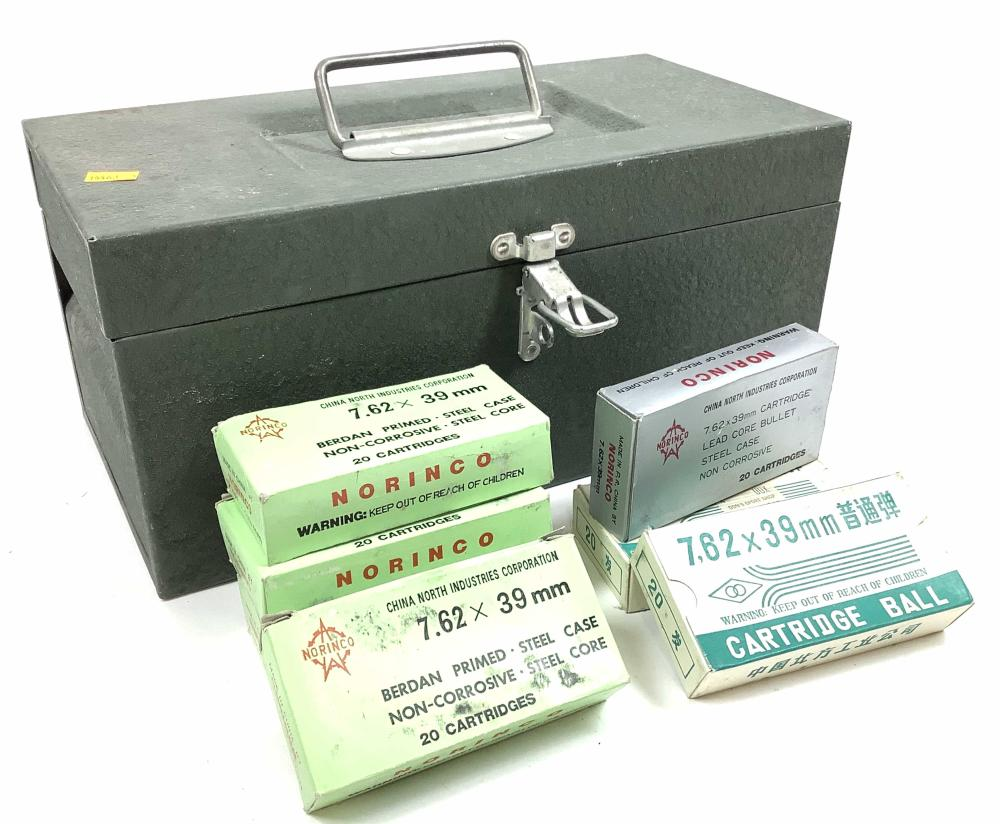 (140) Rds. 7.62 X 39 Ammunition w/ Steel Box