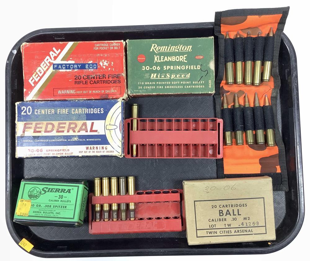 Assorted 30-06 Ammunition, .308 Bullets
