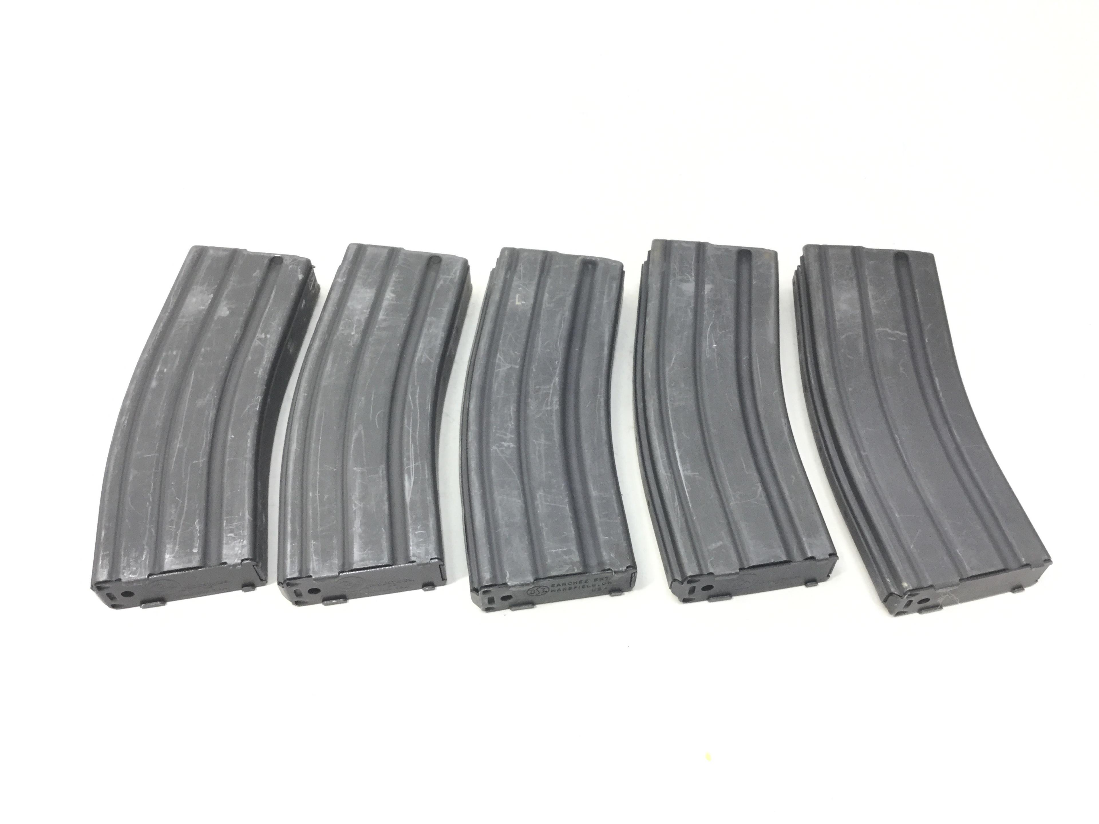 (5) Full 223 / 5.56 Mags Filled w/ 5.56 Green Tip