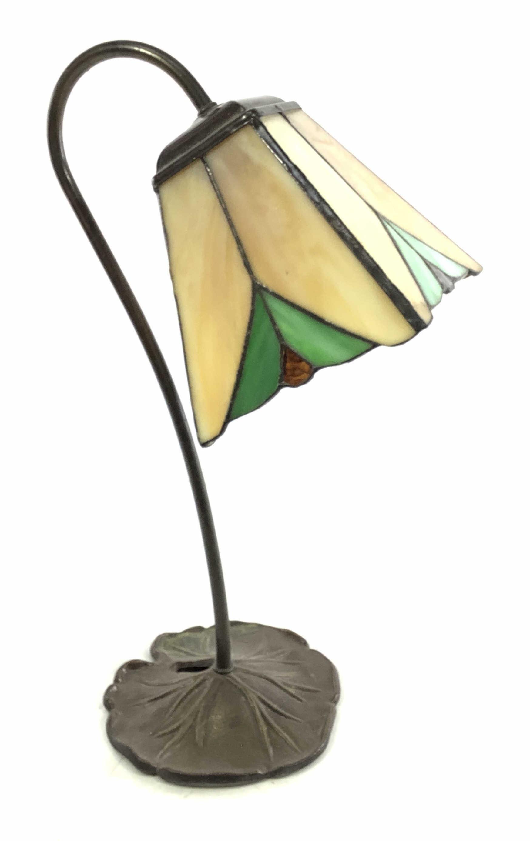 Slag Glass Desk Lamp, Needs Repair
