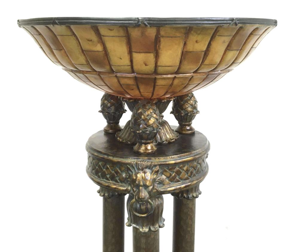 French Empire Style Bronze Finished Floor Lamp