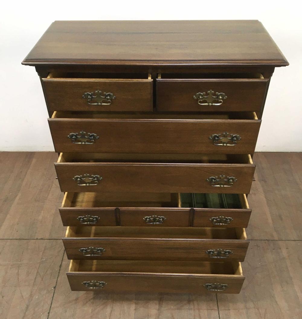 Taylor Jamestown Campaign Walnut Chest On Chest