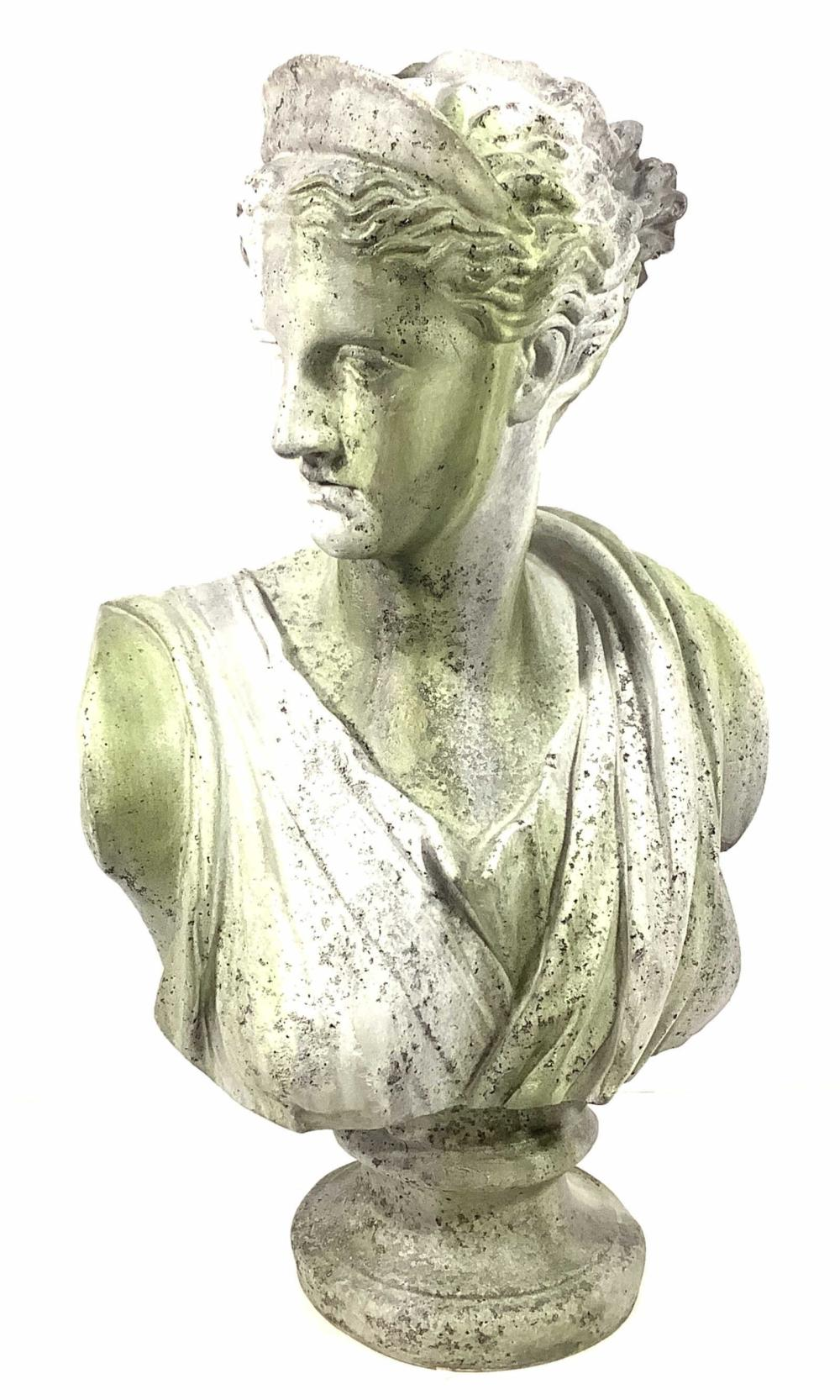 Cast Resin Greek Bust Of Artemis Diana Goddess