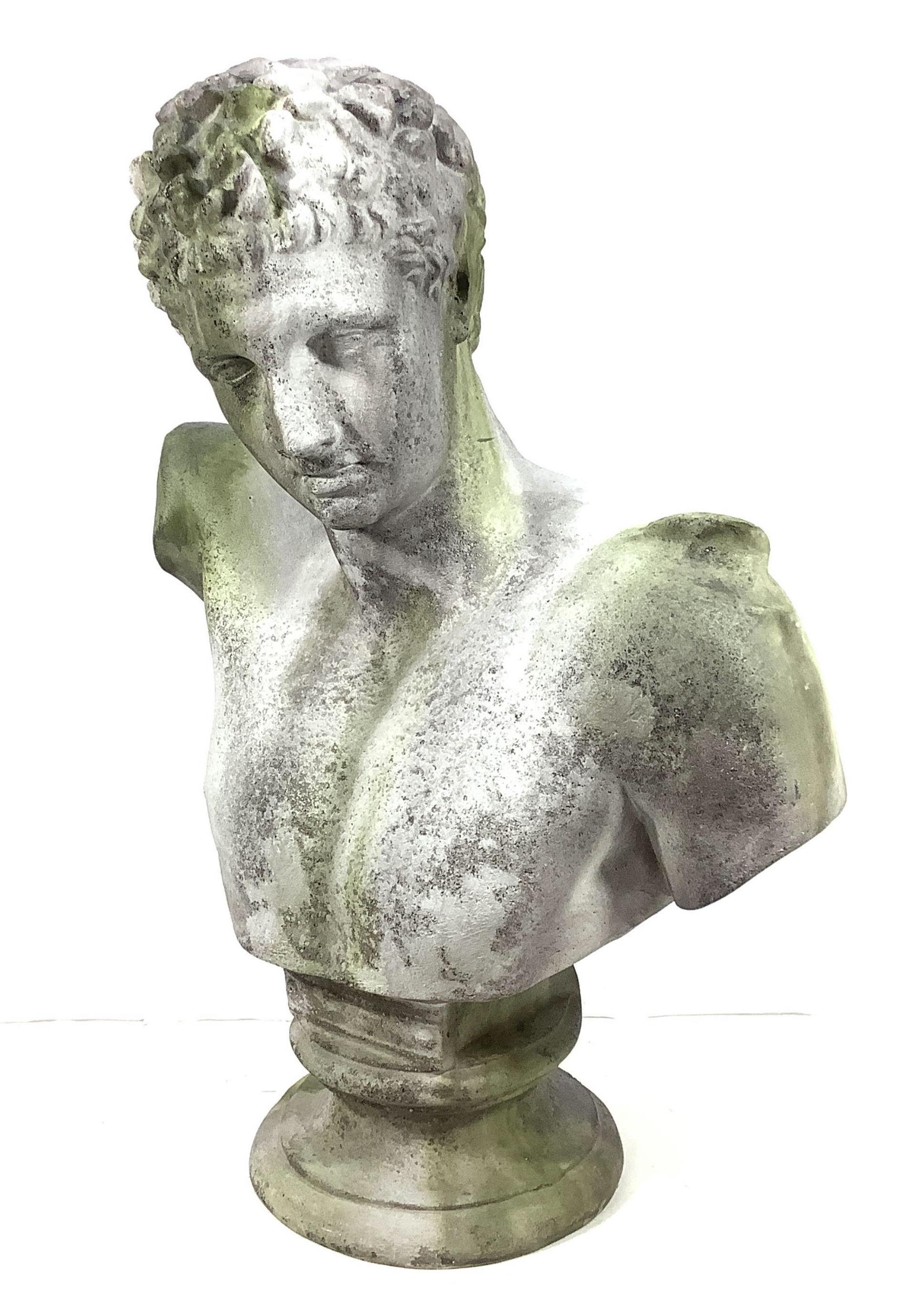 Cast Resin Greek Bust Of Hermes Messenger God