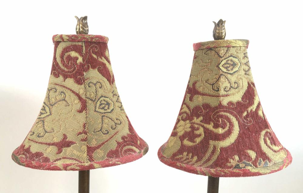 Pair Of Candlestick Style Table Lamps