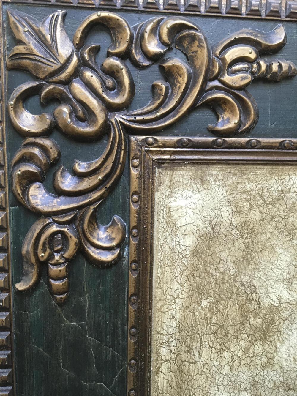 Italian Venetian Style 4-Panel Carved Wood Floor Screen