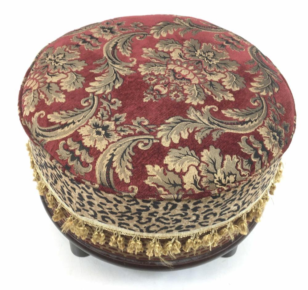 Kirkland's Traditional Pouf Ottoman In Velvet