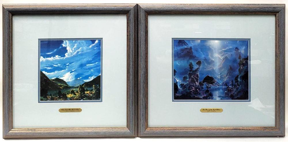 (2pc) Dale Terbush Framed & Matted Prints