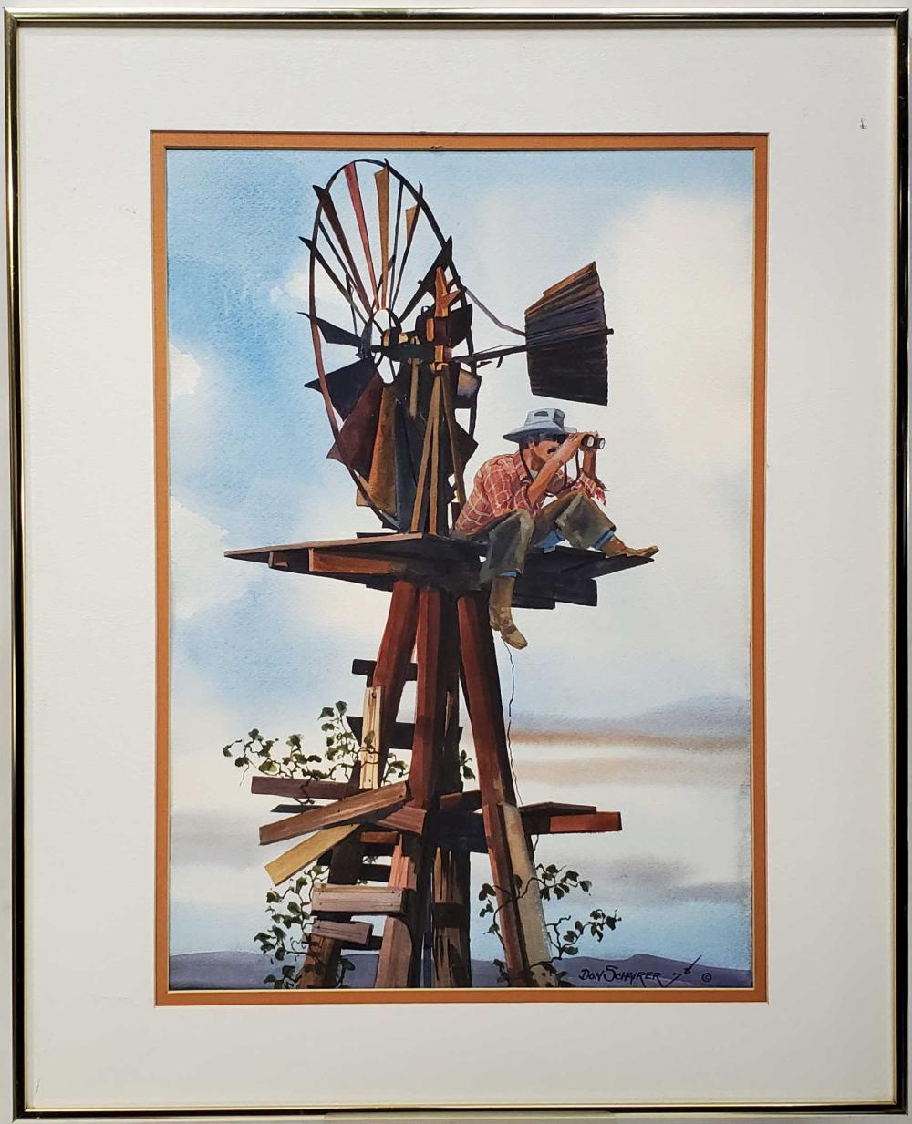 Don Schairer Signed Watercolor On Paper