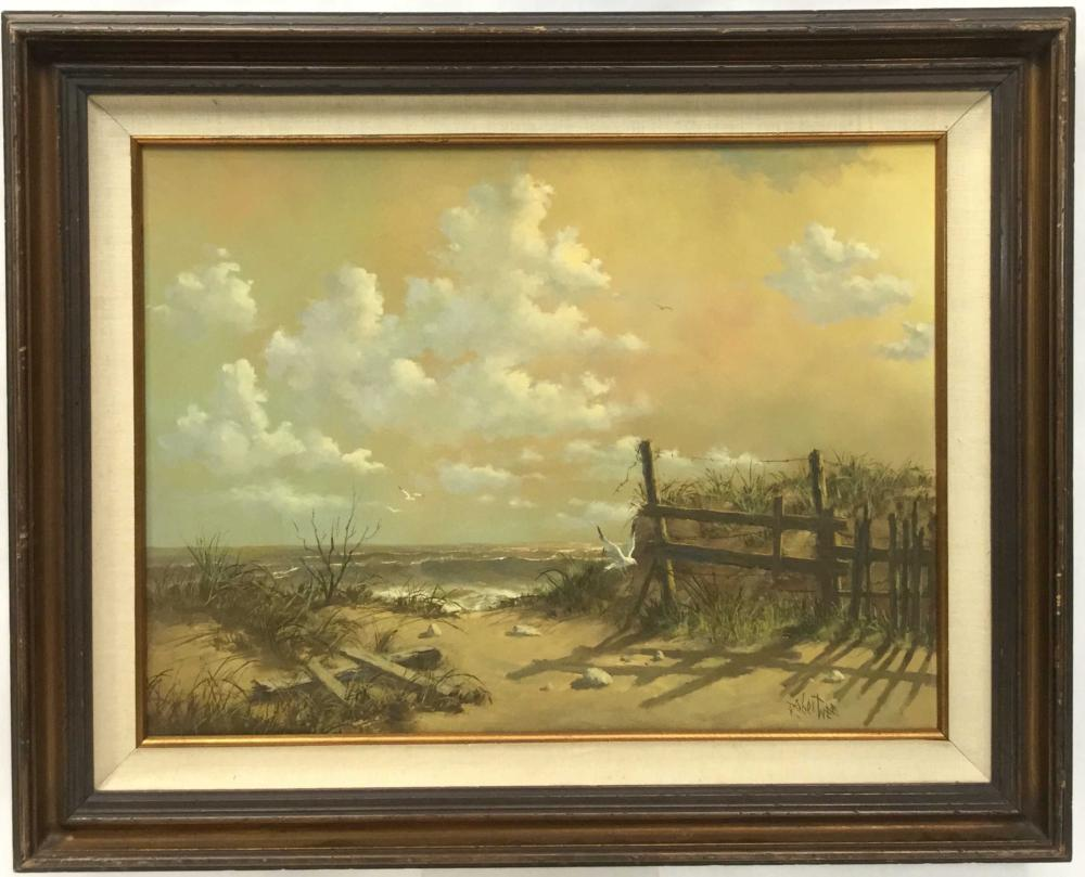 Vintage Robert Wee Signed Oil On Board