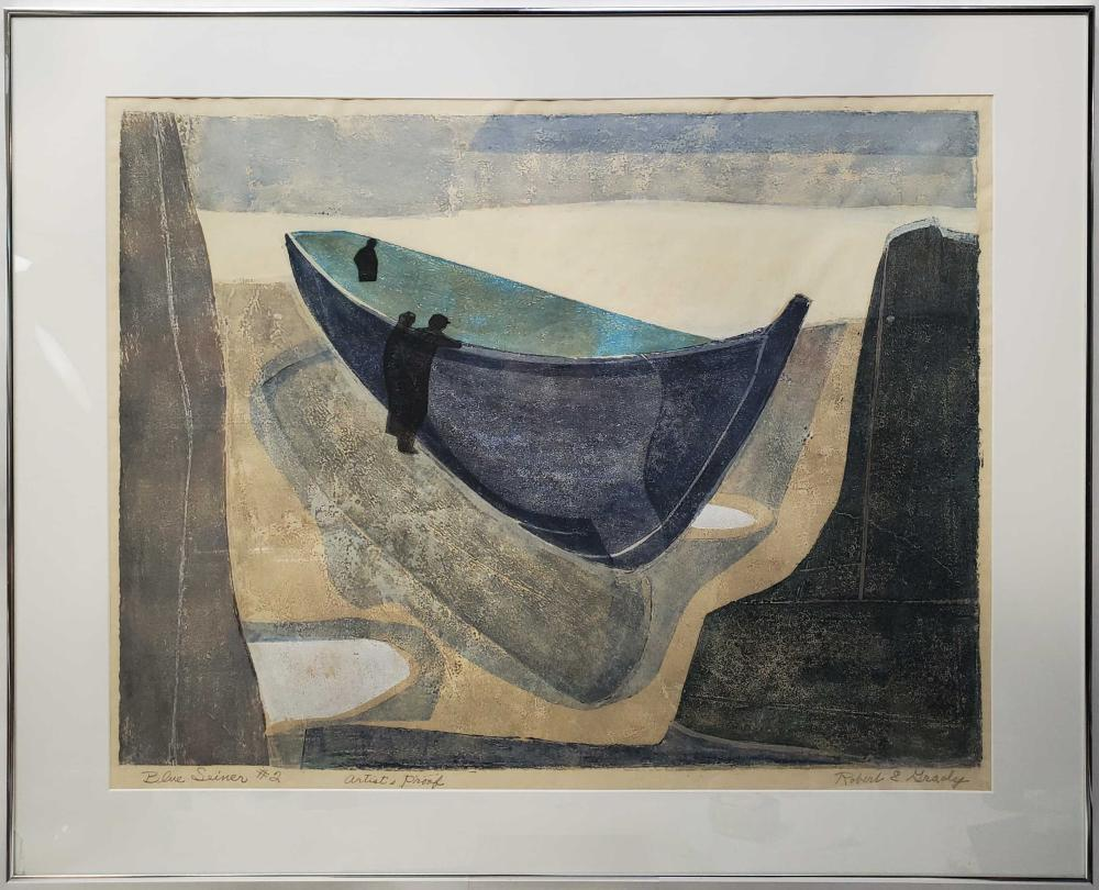 Robert Grady Mid Century Abstract A/P Lithograph