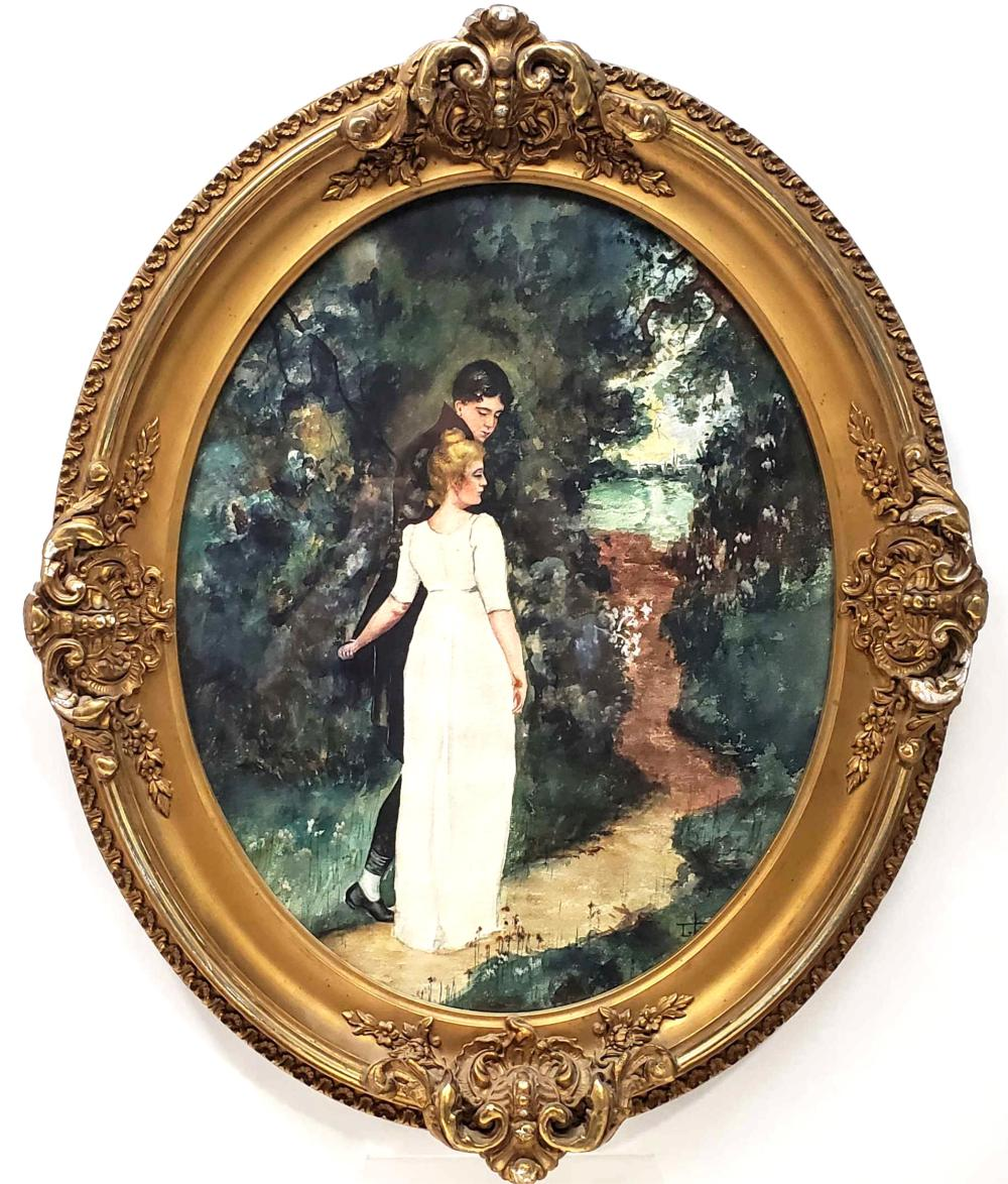 Antique Signed Watercolor Painting On Paper