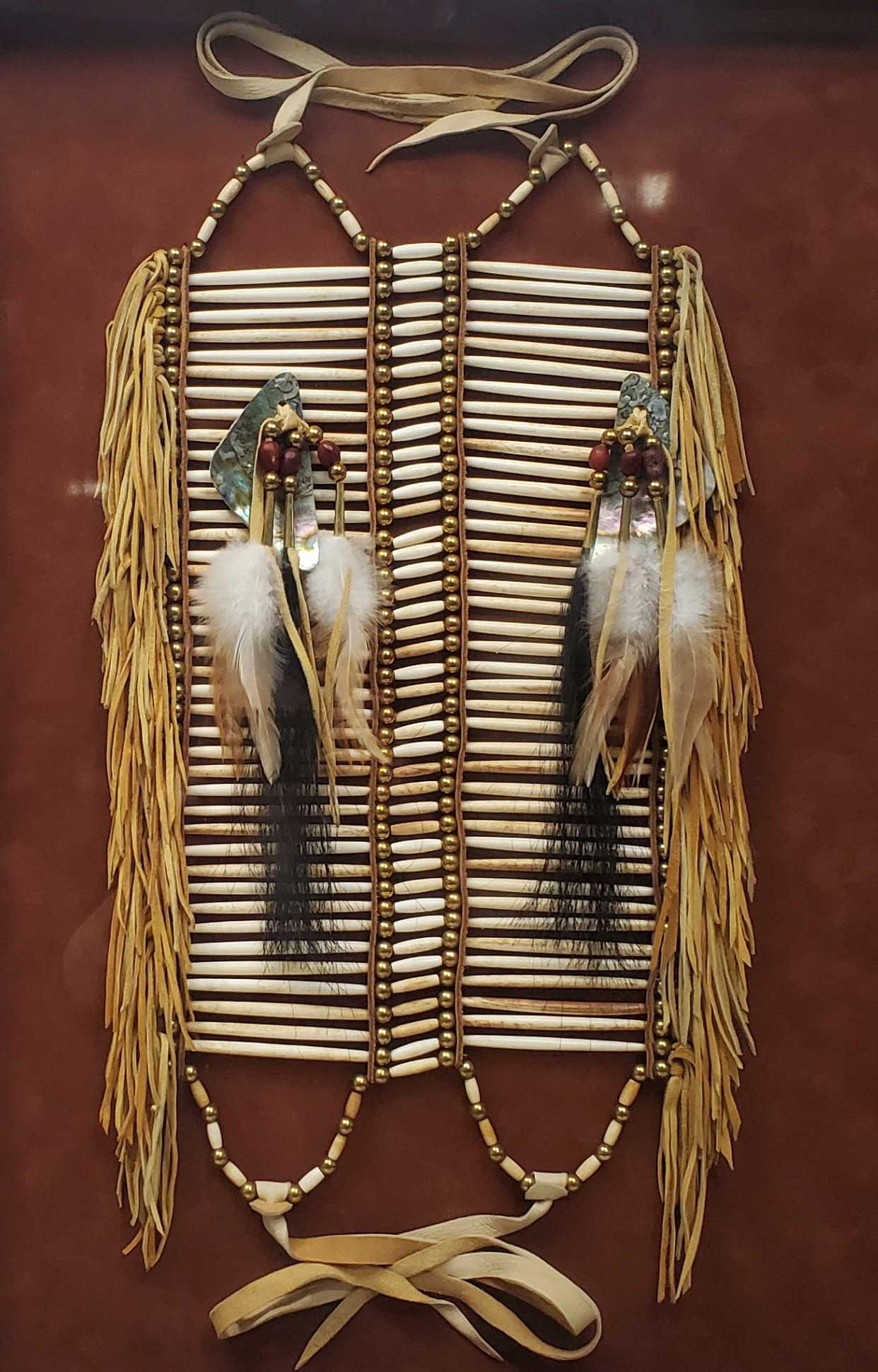 Native American Sioux Bone Beaded Breastplate
