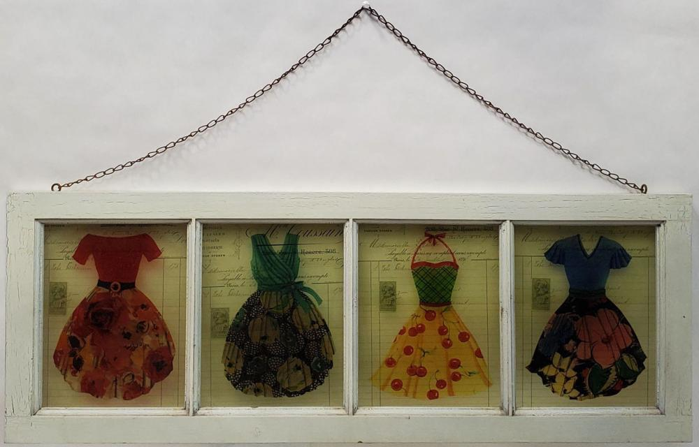 Shabby Chic 4-Panel Window Panel Wall Art