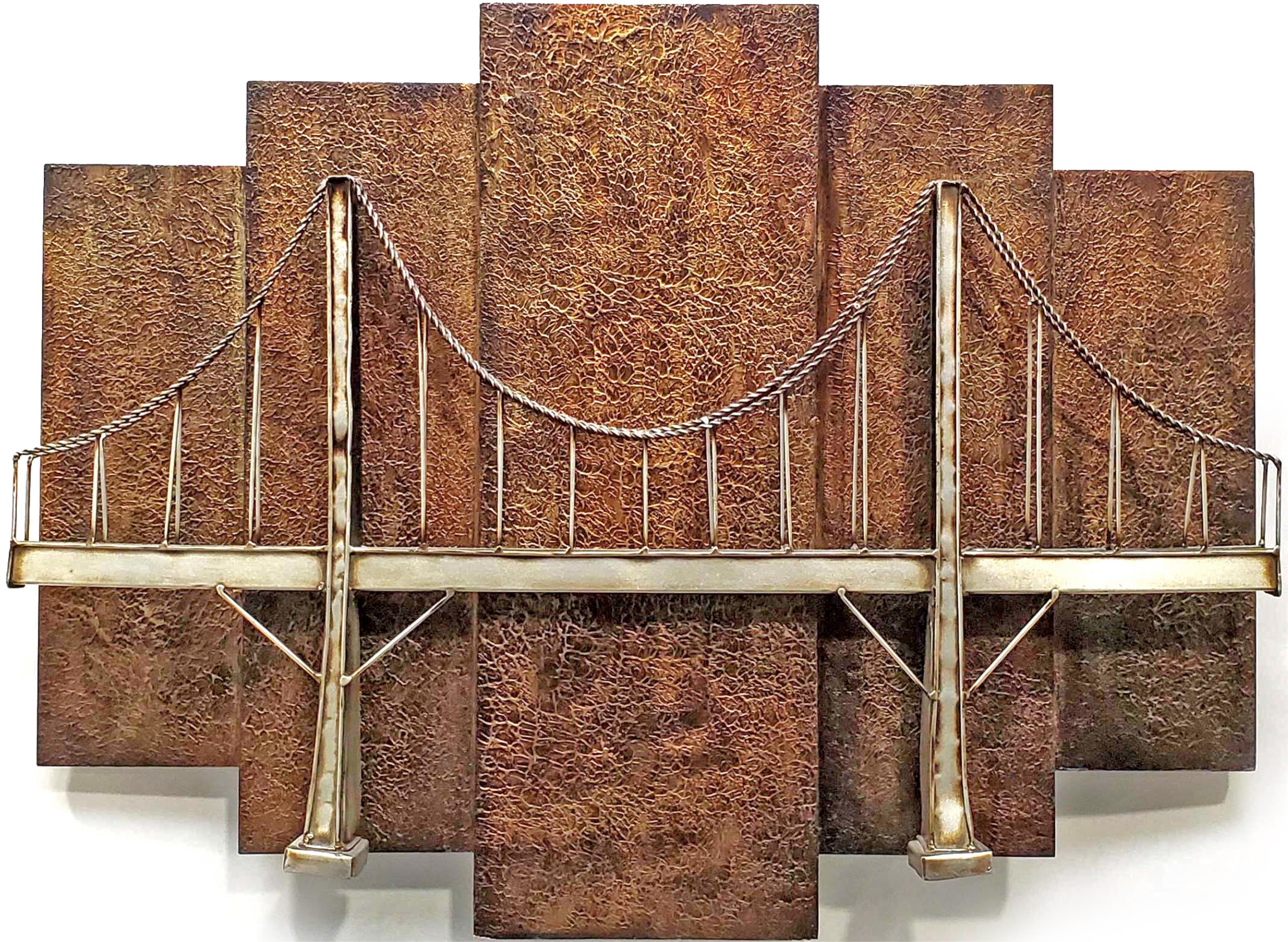 Metal Golden Gate Suspension Bridge Wall Art