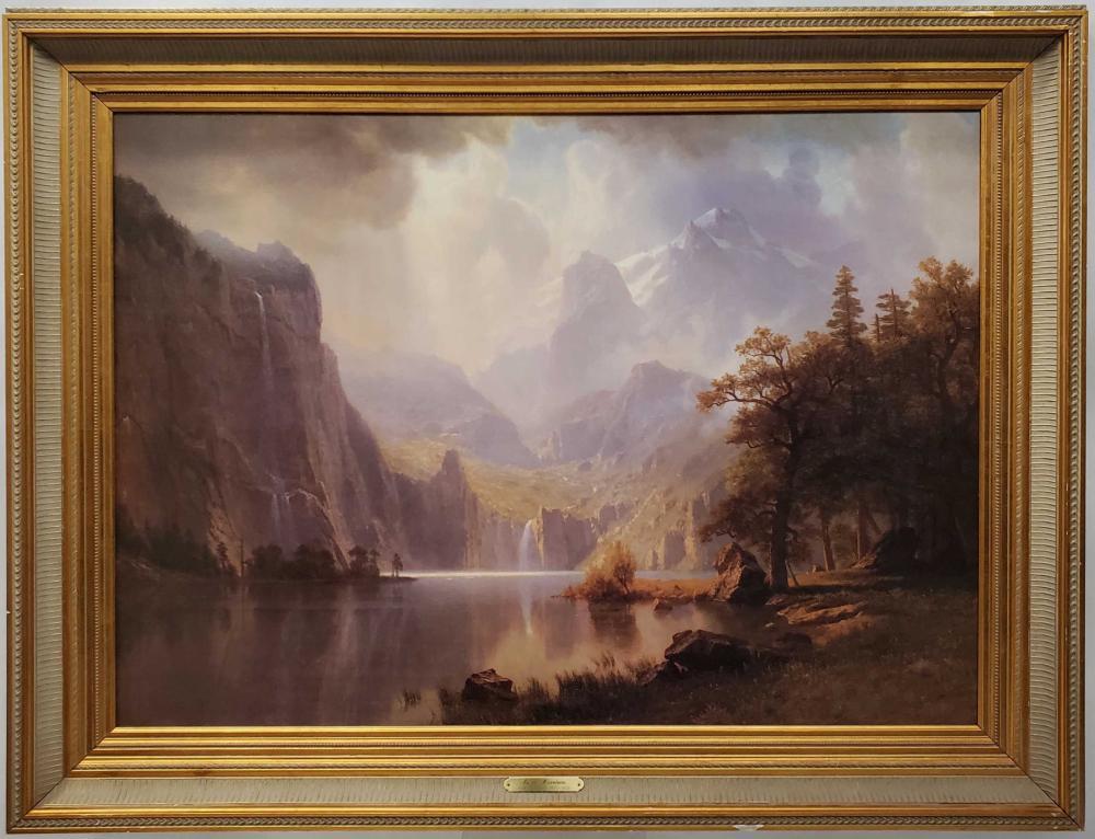 Albert Bierstadt Landscape Giclee On Canvas