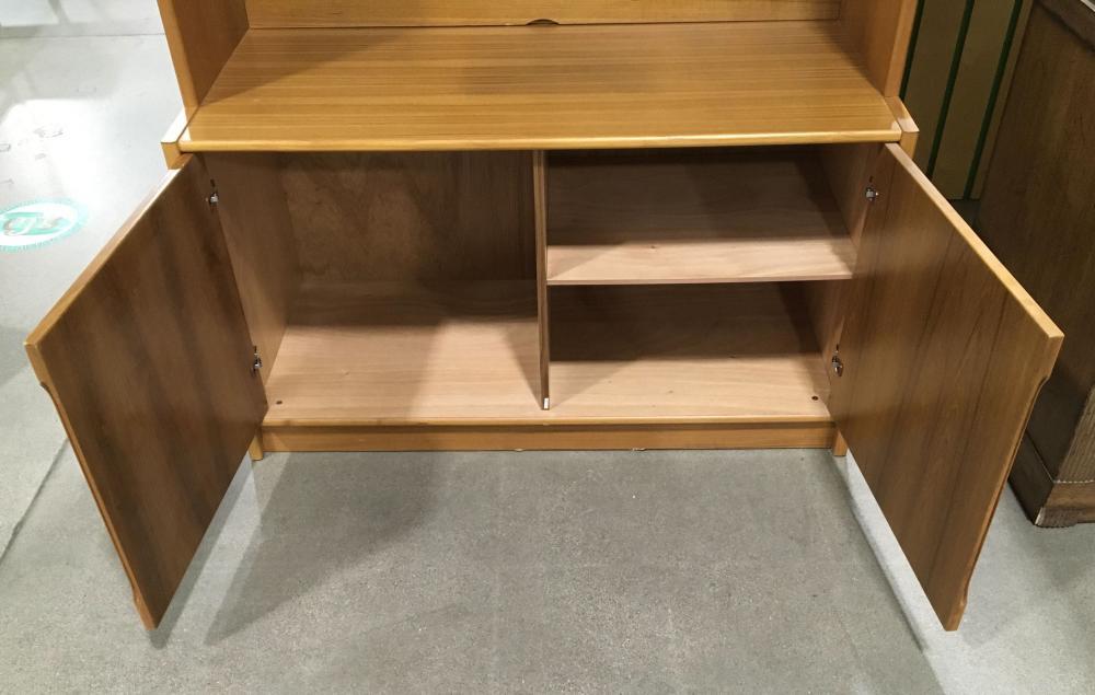(2pc) Contemporary Computer Desk & Hutch