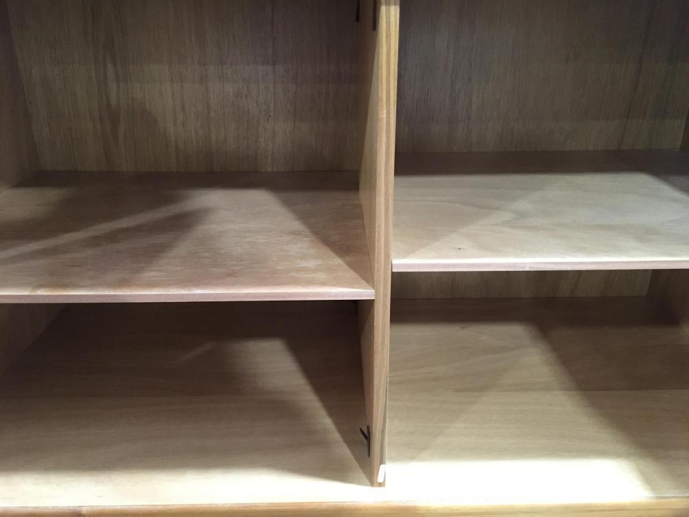 (2pc) Contemporary Laminate Storage Breakfront