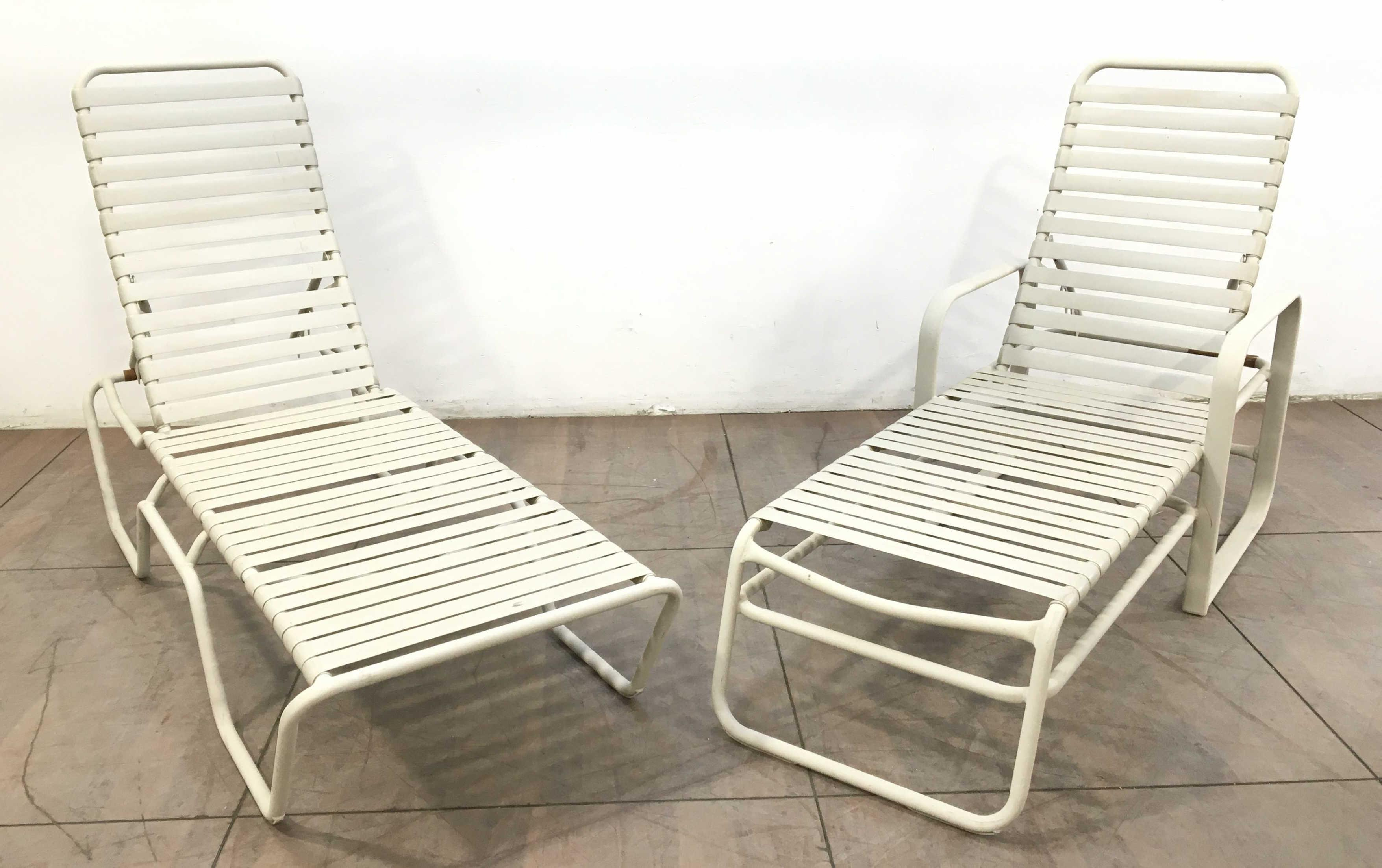 (2pc) Aluminum Chaise Lounge Chairs