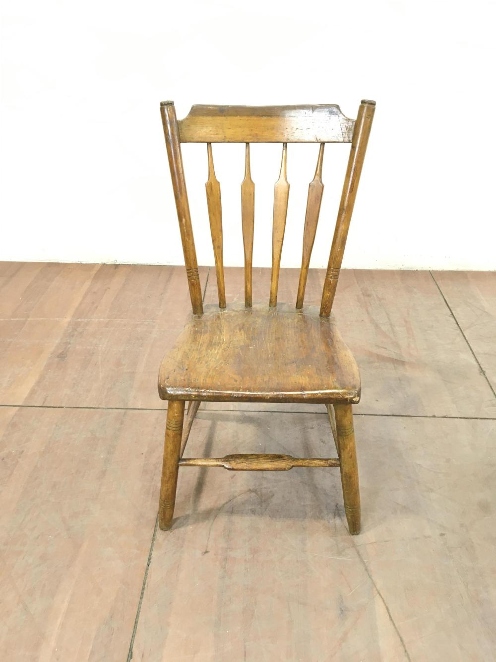 (2pc) Antique Chair & Writing Table