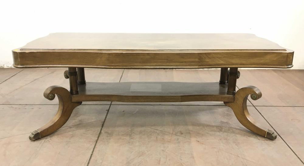 Chippendale Style Carved Walnut Coffee Table