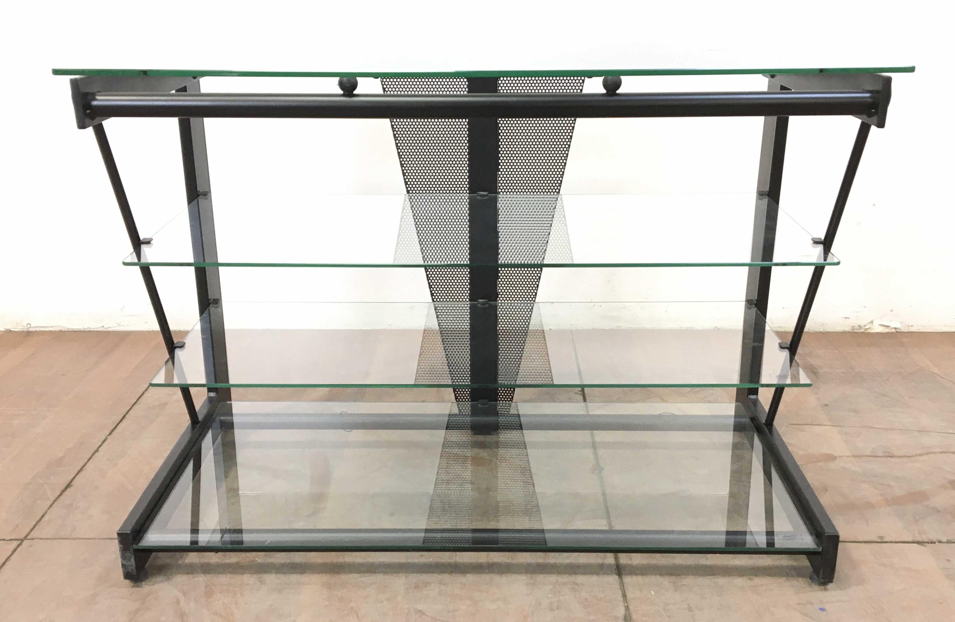 Bell'o Contemporary Glass Entertainment Console
